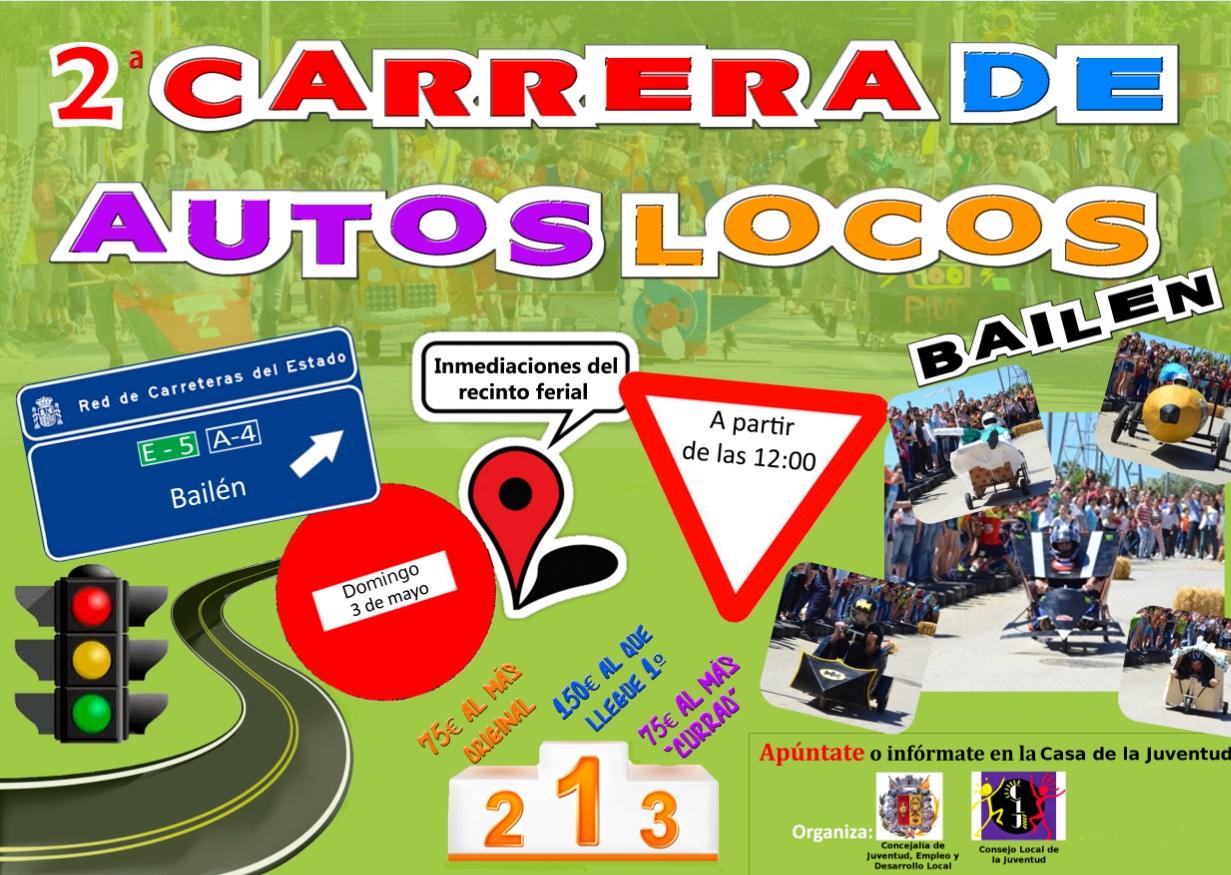 Cartel 2ª Carrera de Autos Locos